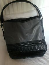 Next Black and Grey Slouch/hobo handbag