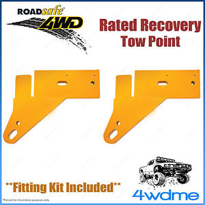 Ford Ranger PX 4WD Roadsafe Rated Recovery Heavy Duty Tow Points Kit