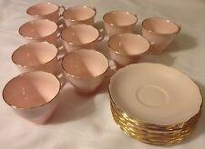 1 Vintage Pink Vogue Cup and Saucer Set Bone China England Gold Trim
