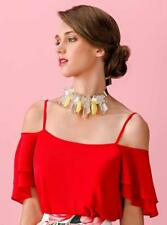 Maglia Allure rosso con spalline ala taglia 42 Elegant dress Elegantes Kleid Rob