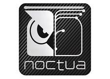 "Noctua 1""x1"" Chrome Domed Case Badge / Sticker Logo"