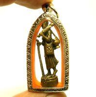 THAI SIVALI BUDDHA AMULET PHRA SIVALEE PENDANT LUCKY TRADE MONEY RICH MERCHANT