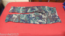 "Military Trousers Pants ""Colder"" Weather Woodland Camouflage Size Medium Short"