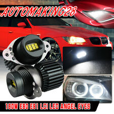 160W Xenon Angel Eyes Cree LED Halo Rings Bulb For BMW E90 LCI  Light Kit Lamp