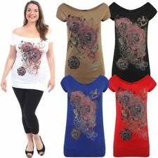 Plus Size Viscose Floral Tunic Tops & Blouses for Women