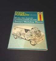 Haynes Dodge Plymouth Vans 1971-1983 6cyl & V8 Owners Workshop Manual
