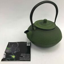NEW SAKURA TEA Green Cast Iron Teapot Japanese Insert Homeware Kitchen 1011201
