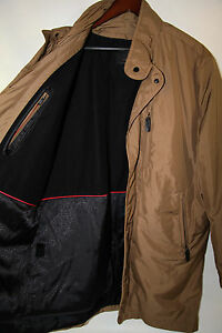 #396  TUMI Polyester Water Resistant Coat Removable Liner Size L new no tags