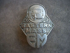 vintage 1925 Eastern Mass EM Bus Chauffeur CDL pin hat classic badge employee ID
