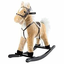 Happy Trails Rocking Horse Toddler to 4 Yrs Wooden Rocker Stuffed Animal Noise