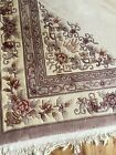 antique art deco Style chinese rug good condition Mauve Floral 9'x12' No Jersey