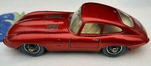 Lesney Matchbox E-Type Jaguar No.32 Metallic Red Car 1962 Spoked Wheels 1-75
