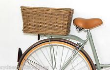 RATTAN REAR CARRY BASKET RACK LADIES MENS RETRO VINTAGE BICYCLES BIKES FIXED SYD