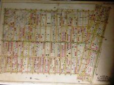 1898 Bedford Stuyvesant Brooklyn, New York Hopkins Map Atas 22X30