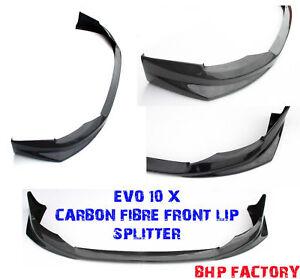 MITSUBISHI EVO 10 X CARBON FIBRE FRONT RALLIART STYLE BUMPER SPLITTER LIP Z1147