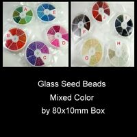 Buy 3 Get 3 Free / Seed Beads by 80x10mm box - over 1000 beads - Various Colour