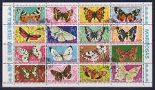 BLOC  16  papillons     Guinée équatorial