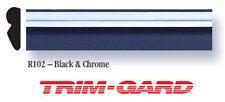 "BLACK & CHROME Universal Trim-Gard Stick On Wheel Well Molding 7/16"" x 50'"