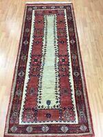 """2'9"""" x 7' New Indian Tribal Floor Runner Oriental Rug - Hand Made - Veg Dye"""