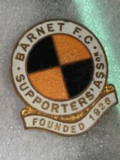 BARNET FOOTBALL CLUB EARLY 1960'S SUPPORTERS CLUB OFFICIAL PIN BADGE GOOD CON