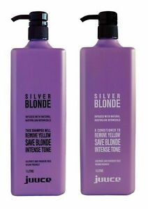 Juuce Silver Blonde INTENSE TONING Shampoo & Conditioner 1000ml /1Litre