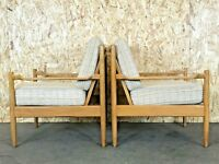 2x 60er 70er Jahre Sessel Easy Chair Loungechair Danish Modern Design 70s 60s