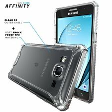 For Samsung Galaxy On5 + Shockproof 360° Bumper TPU Cover Case Clear
