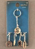 Harry Potter Schlüssel-Anhänger Metall 5 Charms Gleis 9 3/4 Hogwarts Gryffindor