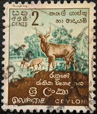 Stamp Ceylon 1958 2c Deer Used