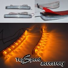 2 Pcs 9LED Bendable Car SUV Side Mirror Turn Signal Lights yellow Indicator Lamp