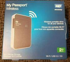 WD - My Passport 2TB External Wireless/USB 3.0/2.0 Portable Hard Drive - Black