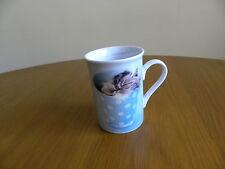 "Rachael Hale Coffee Mug Cup Bone China Kitten Cat  Made in New Zealand 4"" tall"