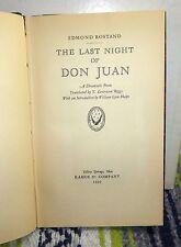 The Last Night of Don Juan, Edmond Rostand (Kahoe & Co, 1929) 1st Ed
