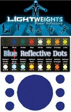Lightweights Power Reflectors. Blue Reflective Safety Dots.