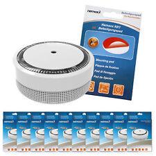 """10x Nemaxx Mini-Designer Rauchmelder """"Elegance"""" - 5J. Batterie Weiß + Klebepad"""