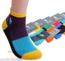 High Quality Men Brand Socks Fashion Cotton 100% Multi Color polo Socks 5 pairs