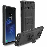Belt Clip Holster Stand Silicone Shockproof Armor Case For Samsung Galaxy Note 8