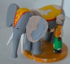 Vintage German Wood People Elephant Bethel Nativity