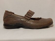 Romika Light Brown Distressed Leather Mary Jane Slip On Flats Shoes 41 (9.5-10)