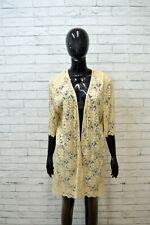 LUISA SPAGNOLI Tubino Vestito Donna Taglia L Dress Cardigan Lungo Beige Maglia