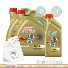 Engine Oil Service Kit: 9 litres of Castrol EDGE 5w30