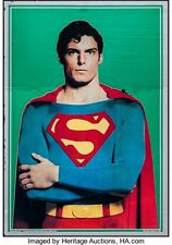 "Movie Poster Superman the Movie 1978 Mylar 21""x30"" VF 7.5 Christopher Reeve"