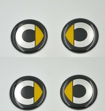 Set of 4 Smart Sticker Wheel Center Caps Badge 57MM Aluminium Domed Waterproof