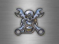 Adesivi adesivo sticker moto auto biker tuning skull teschio motocross pirata rp