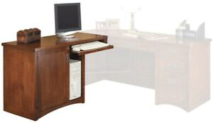 Mission Pasadena L-Shaped Executive Desk with Left Hand- Pick Up Only