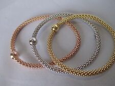 sterling silver plated woven stretch bracelet buy one or all three