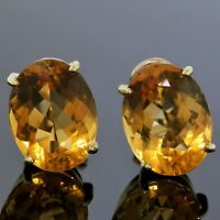 H. Stern Clip Earrings 750 18K Yellow Gold Oval Yellow Citrine Vintage