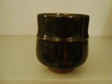 Peter Sparrey Studio Pottery Yunomi Tea Bowl Tenmoku Glaze  17/72