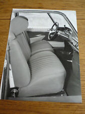 "CITROEN DS 20 AND 21 1969 INTERIOR PRESS PHOTO/ ""CAR BROCHURE"""