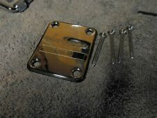 1996 Jackson MIJ Neck Plate Chrome with Cover and Screws NICE